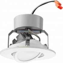 Lithonia Lighting 4 in. Matte White Recessed Gimbal LED Module (3000K)