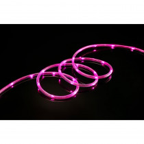 Meilo 16 ft. Pink All Occasion Indoor Outdoor LED 1/4 in. Mini Rope Light 360° Directional Shine Decoration