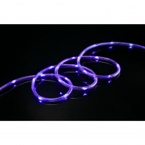 Meilo 16 ft. Purple All Occasion Indoor Outdoor LED 1/4 in. Mini Rope Light 360° Directional Shine Decoration