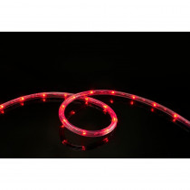 Meilo 16 ft. 108-Light- Light LED Red All Occasion Indoor Outdoor LED Rope Light 360° Directional Shine Decoration