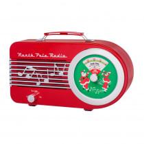 Mr. Christmas 6 in. Christmas Santa's Radio