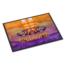 Caroline's Treasures 24 in. x 36 in. Indoor/Outdoor Halloween Welcome Witches Feet Door Mat