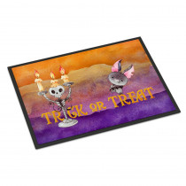 Caroline's Treasures 18 in. x 27 in. Indoor/Outdoor Halloween Trick or Treat Door Mat