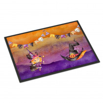 Caroline's Treasures 18 in. x 27 in. Indoor/Outdoor Halloween Little Witch Party Door Mat