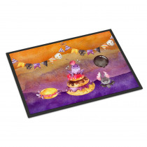 Caroline's Treasures 24 in. x 36 in. Indoor/Outdoor Halloween Sweets Party Door Mat
