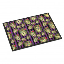 Caroline's Treasures 18 in. x 27 in. Indoor/Outdoor Watecolor Day of The Dead Halloween Door Mat