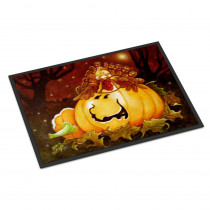 Caroline's Treasures 18 in. x 27 in. Indoor/Outdoor Somebody to Love Pumpkin Halloween Door Mat