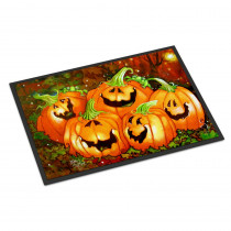 Caroline's Treasures 24 in. x 36 in. Indoor/Outdoor Such A Glowing Personality Pumpkin Halloween Door Mat