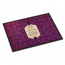 Caroline's Treasures 24 in. x 36 in. Indoor/Outdoor Goulish Menu including Eye Screen Snake Soup Halloween Door Mat