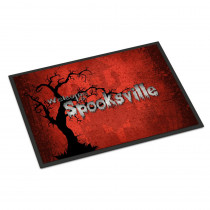 Caroline's Treasures 24 in. x 36 in. Indoor/Outdoor Welcome to Spooksville Halloween Door Mat