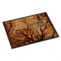 Caroline's Treasures 18 in. x 27 in. Indoor/Outdoor A Spook Tacular Day Halloween Door Mat