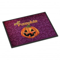 Caroline's Treasures 18 in. x 27 in. Indoor/Outdoor Hello Pumpkin Halloween Door Mat