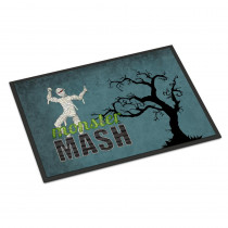 Caroline's Treasures 18 in. x 27 in. Indoor/Outdoor Monster Mash with Mummy Halloween Door Mat