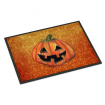 Caroline's Treasures 24 in. x 36 in. Indoor/Outdoor October Pumpkin Halloween Door Mat