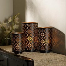 Elements Square Metal Luminaries (Set of 3)