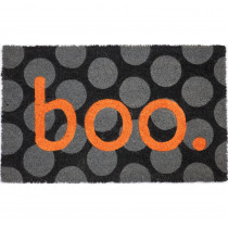 Entryways Boo 17 in. x 28 in. Non-Slip Coir Door Mat