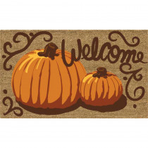 Home Accents Painted Pumpkins 18 in. x 30 in. Coir Door Mat