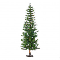 5 ft. Hard Mixed Needle Woodland Spruce Artificial Christmas Tree with 250 Warm White LED Micro Lights
