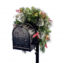 National Tree Company 36 in. Wintry Pine Collection Mailbox Cover