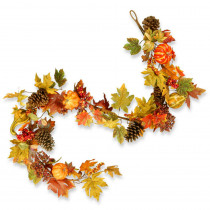National Tree Company 72 in. Maple Garland with Pumpkins