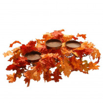 National Tree Company Harvest Accessories 6 ft. Garland with Maples and Pumpkins