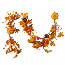 National Tree Company 6 ft. Pumpkin Garland