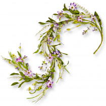 National Tree Company 60 in. Purple Flower Garland