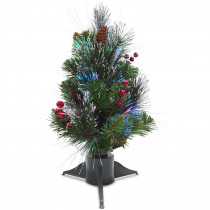 National Tree Company 1.5 ft. Fiber Optic Crestwood Spruce Artificial Christmas Tree