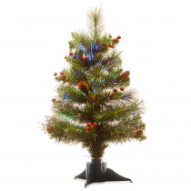 National Tree Company 20 in. Fiber Optic Crestwood Spruce Artificial Christmas Tree