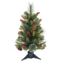 National Tree Company 2 ft. Fiber Optic Crestwood Spruce Tree