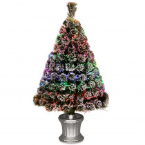 National Tree Company 3 ft. Fiber Optic Evergreen Flocked Artificial Christmas Tree