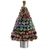 National Tree Company 4 ft. Fiber Optic Evergreen Flocked Artificial Christmas Tree