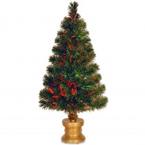 National Tree Company 2.6 ft. Fiber Optic Fireworks Evergreen Artificial Christmas Tree