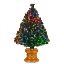 National Tree Company 3 ft. Fiber Optic Fireworks Evergreen Artificial Christmas Tree