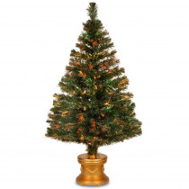 National Tree Company 4 ft. Fiber Optic Fireworks Evergreen Artificial Christmas Tree