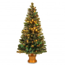 National Tree Company 5 ft. Fiber Optic Fireworks Evergreen Artificial Christmas Tree