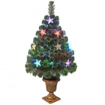 National Tree Company 3 ft. Fiber Optic Evergreen Artificial Christmas Tree with Star Decoration