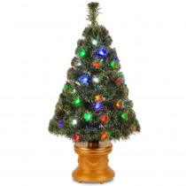National Tree Company 3 ft. Fiber Optic Evergreen Fireworks Artificial Christmas Tree