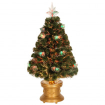 National Tree Company 3 ft. Fiber Optic Double Bell Artificial Christmas Tree