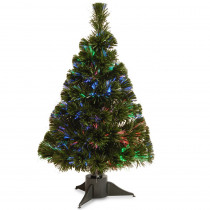 National Tree Company 2 ft. Battery Operated Fiber Optic Ice Artificial Christmas Tree