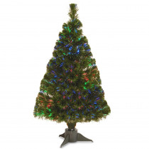 National Tree Company 2.6 ft. Battery Operated Fiber Optic Ice Artificial Christmas Tree