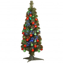 National Tree Company 3 ft. Fiber Optic Fireworks Ornament Artificial Christmas Tree