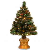 National Tree Company 2.6 ft. Fiber Optic Radiance Fireworks Artificial Christmas Tree