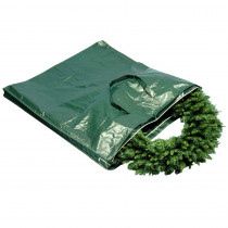 National Tree Company Heavy Duty Wreath and Garland Storage Bag with Handles and Zipper-Fits Up to 4 ft.