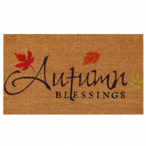 Home & More Autumn Blessings 17 in. x 29 in. Coir Door Mat