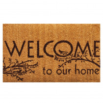 Home & More Welcome 17 in. x 29 in. Coir Door Mat