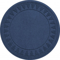 Aqua Shield Navy 35 in. Round Pine Trees Under the Tree Mat