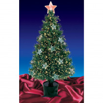 Northlight 4 ft. Pre-Lit Fiber Optic Artificial Christmas Tree with Stars