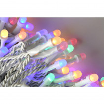 Novolink 200 Light 8 mm Mini Globe Multi Color LED Icicle String Lights with Wireless Smart Control