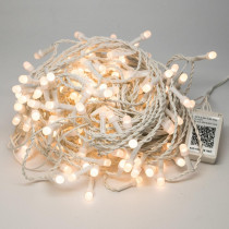 Novolink 200 Light 8 mm Mini Globe Warm White LED Icicle String Lights with Wireless Smart Control